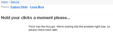 server down di flickr