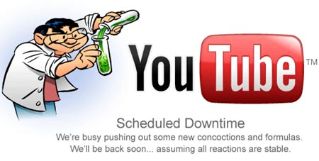 youtube scheduled downtime